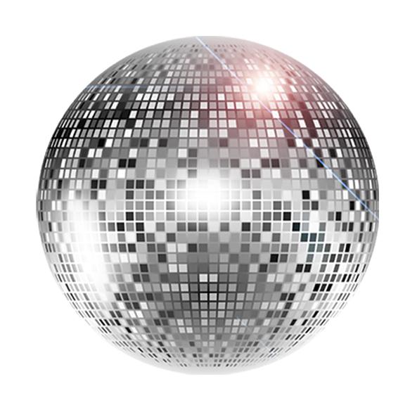 imágen de bola disco, para decorar la página web oficial de machito ponce, donde se puede realizar contrataciones del famoso para fiestas, shows y recitales